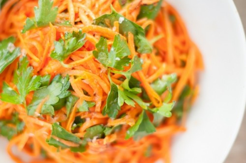 Salad with carrots in Korean: tasty, quick, easy,