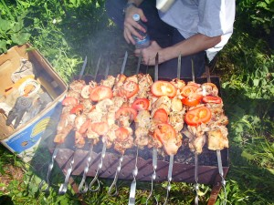 Barbecue in Caucasian