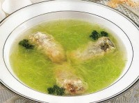 Soup with fish and young cabbage
