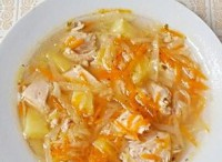 Soup with celery and chicken diet