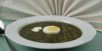The green soup with egg cold (2)