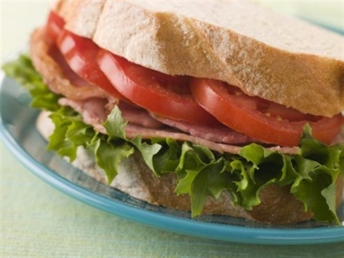 Sandwich with tomato, bacon and lettuce