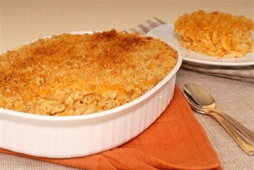 Souffle macaroni and cheese