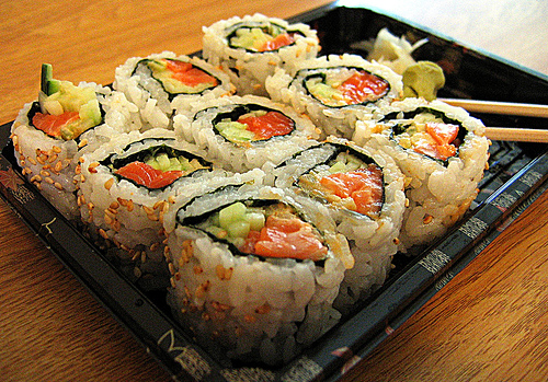 Sushi with salmon special