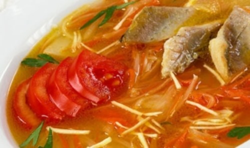 Suvorov soup with fish