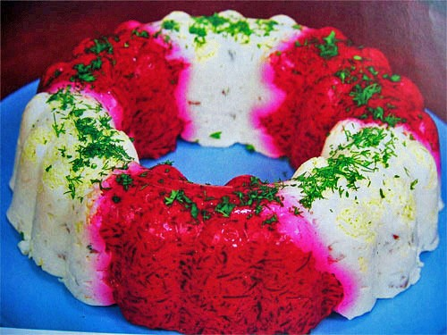 Beet and herring ring