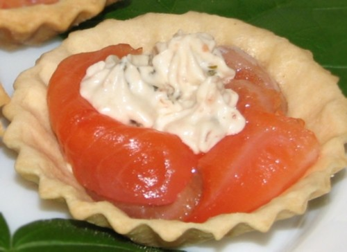 Tartlets with salmon holidays