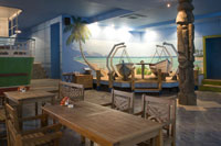 picture - Tiki-bar: the Hawaiian area in Moscow