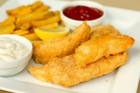Cod in beer batter