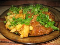 Stewed beef with potatoes