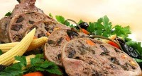picture - Duck stuffed with prunes and carrots