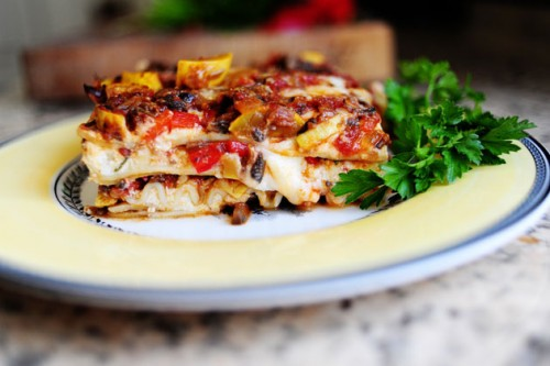 Vegetarian lasagna - easy and delicious
