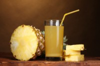 Selection of real pineapple juice