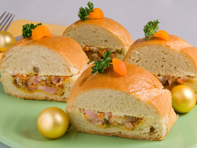 Appetizer of stuffed loaf