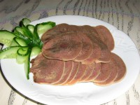 Appetizer of beef tongue