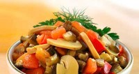 "picture - Appetizer ""mushrooms with vegetables"""