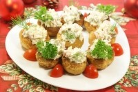 "picture - Snack ""custard tartlets with sausage and cheese"""