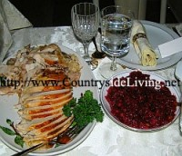 Roasted Turkey with orange and cranberry