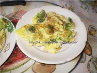 Baked omelet with broccoli
