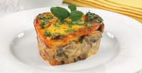 Casserole mushroom with cheese