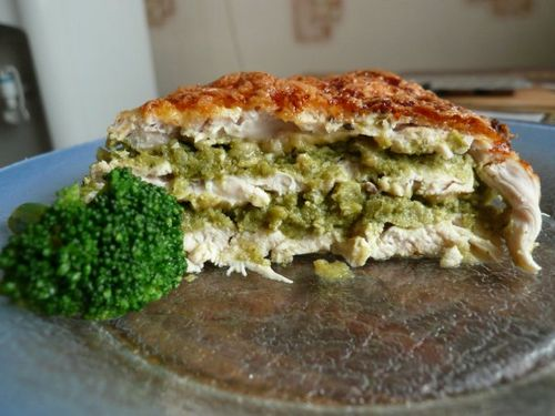 Casserole of chicken and broccoli