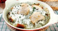 Baked chicken with rice