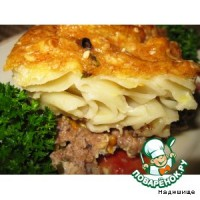 picture - Casserole of vegetables, meat or minced
