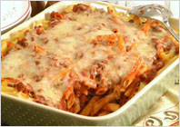 Casserole with pasta and beef