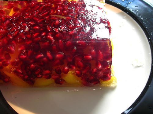Jelly mango and pomegranate