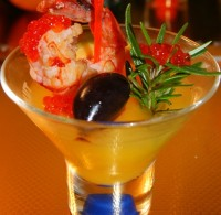 New Year's jelly with prawns